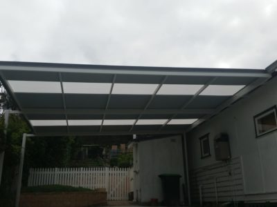 Attached Skillion Carport with offset posts 1