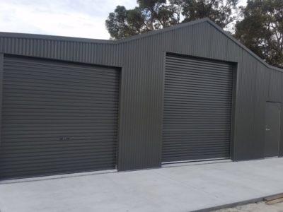 Aussie Barn 12m x 10m x 3.4m with Woodland Grey Corrograted Cladding(1)