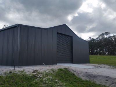 Aussie Barn 12m x 10m x 3.4m with Woodland Grey Corrograted Cladding(2)