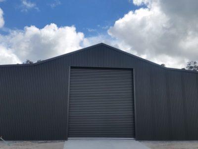 Aussie Barn 12m x 10m x 3.4m with Woodland Grey Corrograted Cladding(3)