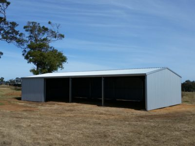 Farm machinery and Equipment storage 9m x 18m x 3m in Zincalume (2)