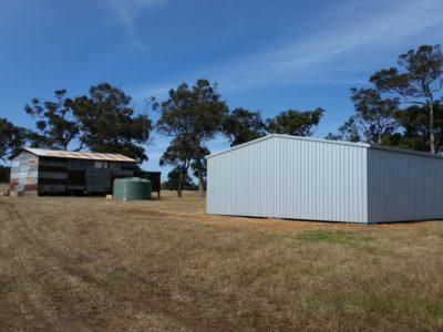 Farm machinery and Equipment storage 9m x 18m x 3m in Zincalume (3)