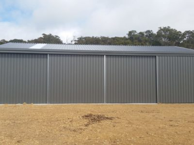 Gable Machinery Shed 10m x 15m x 3.6m with 3 sliding doors (1)