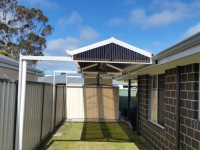 Gable Patio with offset posts 2