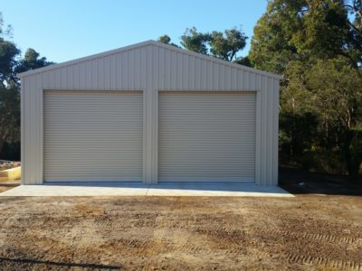 Industrial Utility Storage Shed with Electric Industrial Roller Doors 8m x 8m x 3.4m (2)