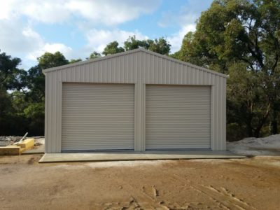 Industrial Utility Storage Shed with Electric Industrial Roller Doors 8m x 8m x 3.4m (4)