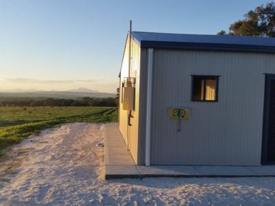 Small Acreage Storage with Weekender and verandah 7m x 10m x 2.7m (1)