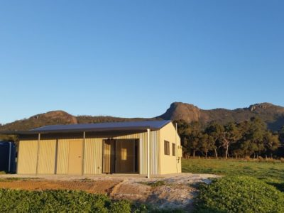 Small Acreage Storage with Weekender and verandah 7m x 10m x 2.7m (2)
