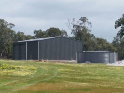 Sundowner Delexe 10m x 15m x 4m with Heritage Water Tank